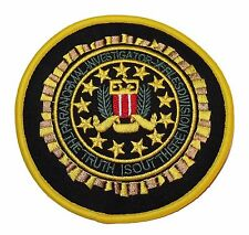 """X-FILES Paranormal Investigator 3 1/2"""" Tall Embroidered Logo PATCH"""
