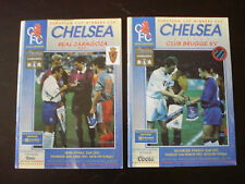 Chelsea v 1994-1995 Season Home European Cup Winners Cup Bundle x 2 Programmes