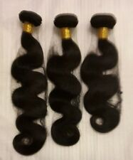 "6A  300g 14"" 16"" 18"" Brazilian human hair extensions weave weft  body wave long"