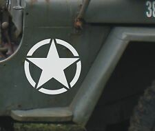 Vinyl star American Army US military - decal sticker badge US army Jeep off road