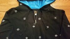 SPECIAL BLEND Icon Repeat Black Hoodie Hoody Ski Snowboard Jacket Men's S  NEW