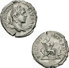 Caracalla Denar Rom 206-210 SECVRIT IMPERII Securitas Zepter Altar RIC 168 - S