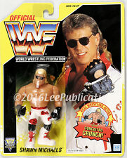 Hasbro WWF Shawn Michaels Yellow card WWE MOSC  U.S. CARD c-7+
