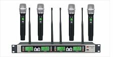 GTD AUdio 4x100 Channel UHF Wireless Microphone Mic System 500MHz B-33