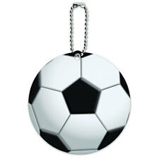 Soccer Ball Football Round Luggage ID Tag Card Suitcase Carry-On