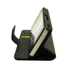 Black wallet leather case / Card Holder for Sony Xperia ZR M36h C5502 C5503 g