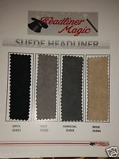 """1/8"""" Foam Backed Suede Headliner Fabric Material 60"""" Width - Sold by the Yard"""