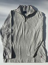 POLO RALPH LAUREN SLEEPWEAR COTTON LONG SLEEVE 1/4 ZIP UP SHIRT WOMENS SMALL