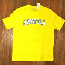 NAUTICA TEE SHIRT, XX-LARGE, YELLOW,  WHITE LOGO BLUE OUTLINE STITCHED ON $19.99