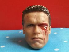 New Custom HotToys 1/6 TERMINATOR T-800 ARNOLD DAMAGE HEAD FOR 12 ACTION FIGURE