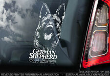 German Shepherd - Car Window Sticker - Dog Sign -V07