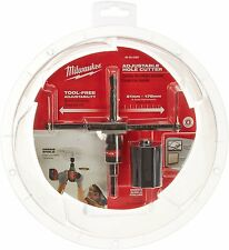 Milwaukee Metric Adjustable Hole Cutter for drywall ceiling title 49560260