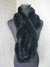 Real rex rabbit fur scarf/cape/ warm scarf fungus shape BLACK shipping free