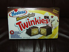 Hostess Twinkies  Limited Edition BANANA SPLIT 9 CAKES TO A BOX