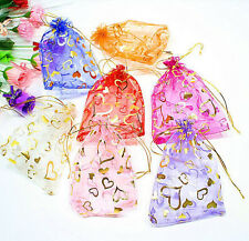 New 13x18cm 100pcs Jewelry Candy Organza Pouch Bags Wedding Party Favor Gift