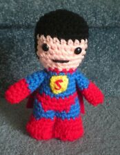 "Amigurumi Hand Crocheted Superhero Superman 6"" Doll *NEW*"