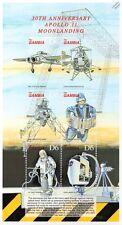 Apollo Xi alunizaje NASA instalaciones de entrenamiento hoja de sellos de espacio (1999) Gambia