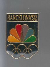 RARE PINS PIN'S .. OLYMPIQUE OLYMPIC TV RADIO NBC BARCELONE 1992 ~12
