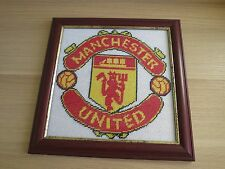 Manchester United Logo Gobelin Tapestry Needlepoint Canvas Hand Embroidered
