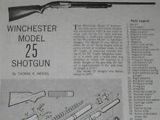 WINCHESTER MODEL 25 SHOTGUN EXPLODED VIEW
