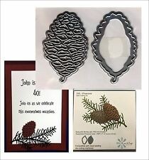 Pinecone Steel Die Cut set 766 - Elizabeth Craft Dies Trees,leaves,nature theme
