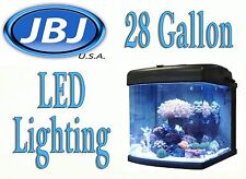 JBJ Nano Cube 28 Gallon INTERMEDIATE Aquarium Coral Fish LED Tank MT-603-LED