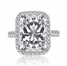 3 Ct Radiant Cut Vs1 Diamond Solitaire Engagement Ring 18k White Gold 263245