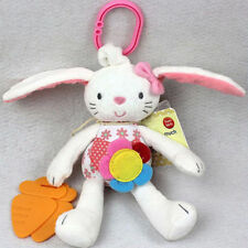 Cute Baby Toy Soft Plush Rabbit Baby Rattle Ring Bell Crib Bed Hanging Toy