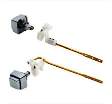 Toilet Tank Lever, Push-button Front or Side Mounted Chrome Brass Arm Aqua Plumb