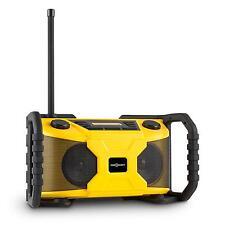 TOP BAUSTELLEN RADIO TRAGBAR BLUETOOTH DAB+SOUNDSYSTEM AUX MP3 USB GELB