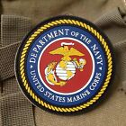 DEPARTMENT OF THE NAVY UNITED STATES MARINE CORPS 3D PVC Rubber Velcro Patch