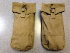 2 x 1937 PATTERN BASIC AMMO POUCHES, DATED 1950s, BLACK FITTINGS [09014 NEW x2]