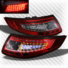 For 05-08 Porsche 997/911 Carrera Red & Clear LED Tail Lights Lamp Pair Brake