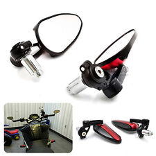Rearview Side Mirrors For 22mm 7/8'' Handlebar Aluminum Motorcycle Racing Red