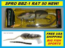 SPRO BBZ-1 RAT 50 Topwater Lure BROWN COLOR NEW! FREE USA SHIPPING! #SRT50Z1BRN