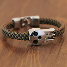 Vintage Womans Mens Cool Anime SOUL EATER Death the Kid Bracelets Wristband Gift