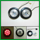 "(2) CLEAR / RED 9 LED Light Trailer 2"" round,w/2 plug,Grommet Clearance 2.0"""