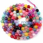 3MM SMALL FACETED ROUND CANDY MULTICOLOR AGATE LOOSE GEMSTONE BEADS STRAND 15""