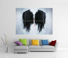 Banksy noir ailes d'ange street graffiti giant wall art imprimé photo affiche