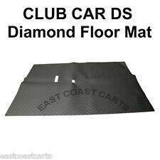 Club Car DS Golf Cart Diamond Floor Mat Black Rubber
