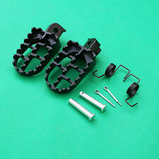 Black Aluminium Foot Pegs Honda CRF50 70 100F XR TW200 pit dirt bike Footrest