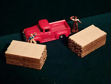 "2 HO Scale 2"" x 12"" x 12ft Lumber Yard Stacks Loads Dimensional Boards Planks"