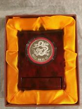 Taiwan Millennium Year of Dragon 50 Dollars Silver Coin With Box
