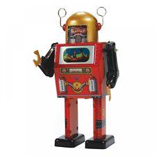 ENESCO  - SAINT JOHN - TV SPACEMAN ROBOT - MECHANICAL WIND UP TIN TOY - NEW