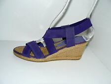 WEDGES Damen Sommer Schuhe Sandaletten 38 UK 5 Stretch Riemchen Pumps Bast NEU