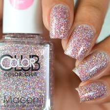 Color Club - Jitters - Light Pink Silver Holographic Glitter Scented Nail Polish