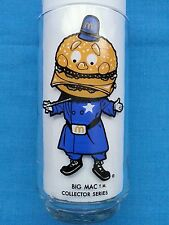 "BIG  MAC        MC DONALD'S  COLLECTOR  SERIES  GLASS      ""POLICEMAN"""