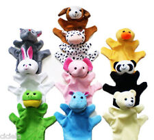 Cute Family Finger Puppets Cloth Doll Baby Educational Hand Cartoon Animal Toys