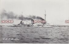 "Imperial German Navy Real Photo RPPC. SMS ""Moltke"" Battlecruiser. Scapa. c 1911"