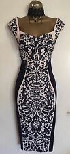 NWT LIPSY Illusion Navy Fitted Weddin Office Cocktail Party Evenin Dress Size 10